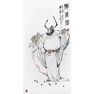 窦世魁国画作品《人物画-神威图》议价