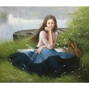 朱世想油画《【写春】作者朱世想 临摹》