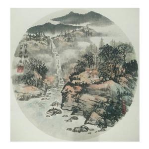 马海伟国画作品《【清泉细流】作者马海伟》价格1440.00元