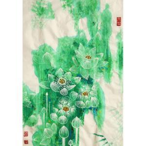 张忠顺国画作品《【荷花3】作者张忠顺》价格2400.00元