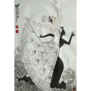 张忠顺国画作品《【翩翩起舞】作者张忠顺》价格1000.00元