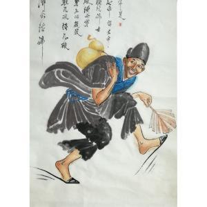 张忠顺国画作品《【济公活佛】作者张忠顺》价格1000.00元