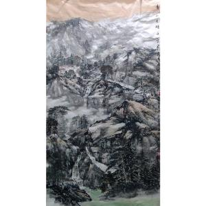 马海伟国画作品《【青山不转白云飞】作者马海伟》价格14400.00元
