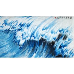 张忠顺国画作品《【海浪2】作者张忠顺》价格7200.00元
