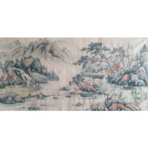 李其林国画作品《【山水4】作者李其林》价格1440.00元