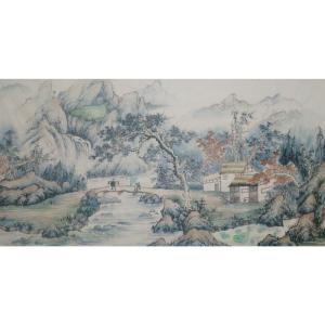 李其林国画作品《【山水6】作者李其林》价格1440.00元