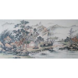 李其林国画作品《【山水7】作者李其林》价格1440.00元