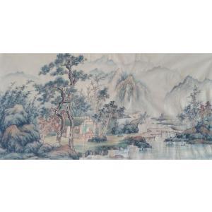 李其林国画作品《【山水9】作者李其林》价格1440.00元