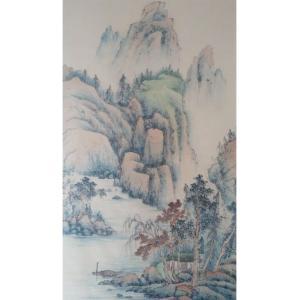 李其林国画作品《【山水10】作者李其林》价格1440.00元