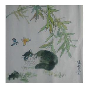 徐如茂国画作品《【迎蝶】作者徐如茂》价格1200.00元