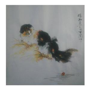 徐如茂国画作品《【稻草香】作者徐如茂》价格1200.00元