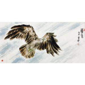 袁峰国画《【腾飞 鹰2】作者袁峰》
