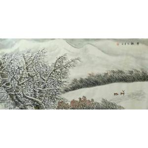臧茂春国画作品《【雪趣】作者臧茂春》价格7200.00元