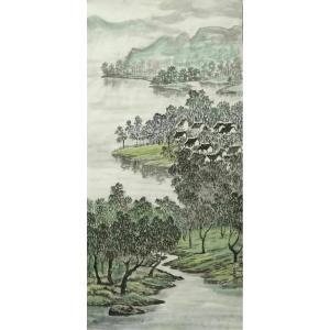 臧茂春国画作品《【水乡】作者臧茂春》价格7200.00元