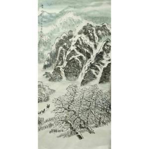 臧茂春国画作品《【雪山】作者臧茂春》价格7200.00元