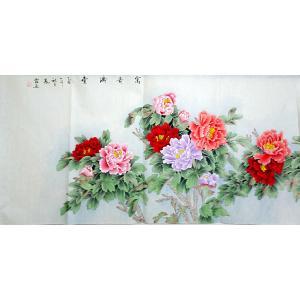 沈凤霞国画作品-《【富贵满堂】作者沈凤霞》