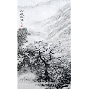 张跃川国画作品《【山寨秋色】作者张跃川》价格626.00元