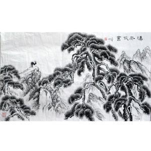 张跃川国画作品《【涛声依旧】作者张跃川》价格626.00元