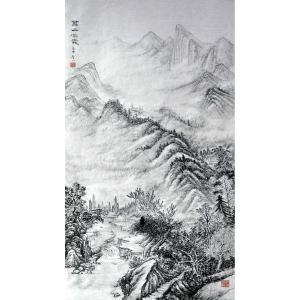 张跃川国画作品《【万山深处】作者张跃川》价格1152.00元