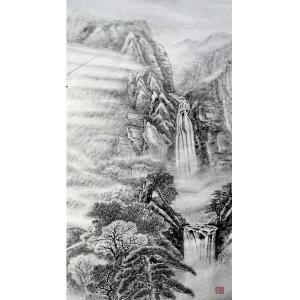 张跃川国画作品《【闲居深山】作者张跃川》价格1080.00元