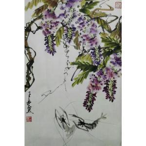 王立丰国画作品《【紫藤】作者王立丰》价格480.00元