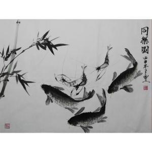 王立丰国画作品《【同乐图】作者王立丰》价格840.00元