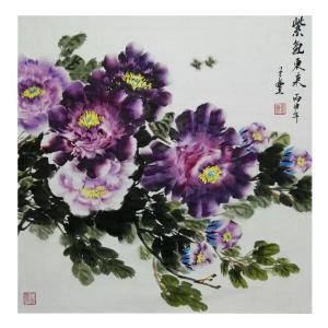 王立丰国画作品《【紫气东来】作者王立丰》价格360.00元