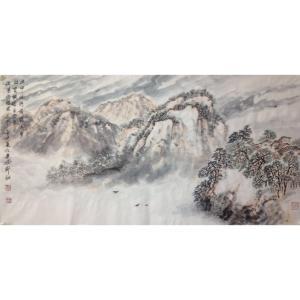 郑诚国画作品《【山水】作者郑诚》价格4800.00元