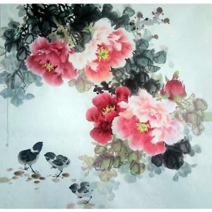 罗欣科国画作品《【牡丹】作者罗欣科》价格912.00元