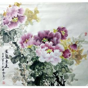 罗欣科国画作品《【紫气东来】作者罗欣科》价格500.00元