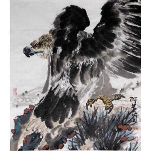 王贵烨国画作品《【鹰眼如炬】作者王贵烨》价格30000.00元