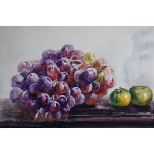 孙威国画作品《【葡萄与橘子】作者孙威》价格1200.00元