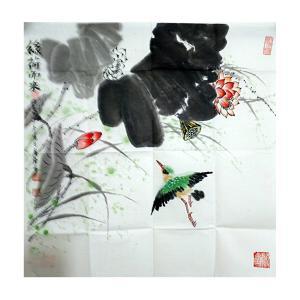 张广袖国画作品《【莲】作者张广袖》价格1200.00元
