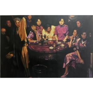 韦振华油画作品《【春堂玉暖】作者韦振华 临摹》价格2880.00元