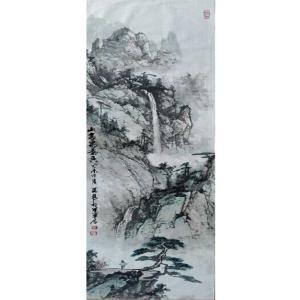 王英勇国画作品《【眺望远山】作者王英勇》价格4800.00元