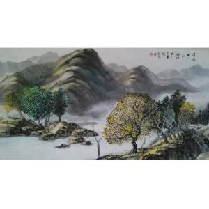 周泽干国画作品《【山水28】作者周泽干》价格3840.00元