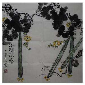 李伯元国画作品《【丝瓜】作者李伯元》价格260.00元