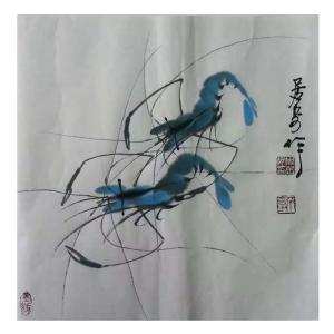 周居安国画作品《【成双成对】作者周居安》价格480.00元
