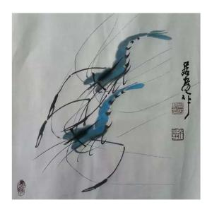 周居安国画作品《【成双成对2】作者周居安》价格480.00元