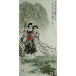 于波国画作品《【松风明月图】作者于波》价格6000.00元