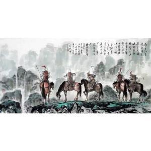 于波国画作品《【五虎上将图】作者于波》价格6000.00元