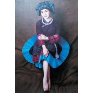 王冬寒油画作品《【民族少女】作者王冬寒》价格6240.00元