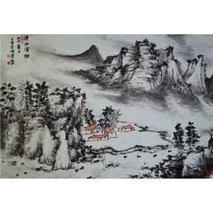 陈乐国画作品《【溪山清幽】作者陈乐》价格4800.00元