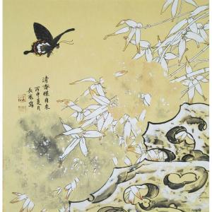 刘长亮国画作品《【清香蝶自来】作者刘长亮》价格2880.00元