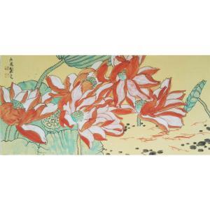 刘长亮国画作品《【荷风】作者刘长亮》价格3840.00元