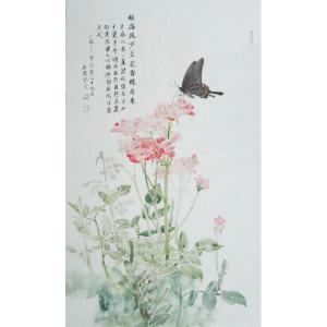 刘长亮国画作品《【蝶至】作者刘长亮》价格6240.00元