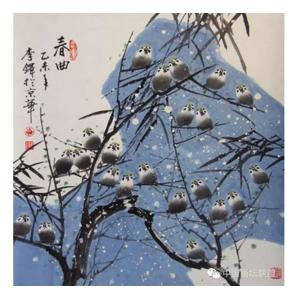 李铎国画作品《【花鸟19】作者李铎》价格9600.00元