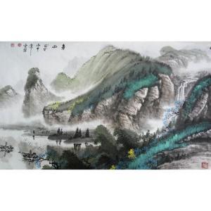 侯虎乐国画作品《【春雨】作者侯虎乐》价格1920.00元