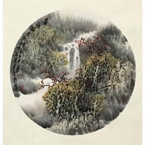 原东平国画作品《【瀑布】作者原东平》价格21600.00元