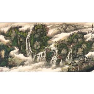原东平国画作品《【山高水长】作者原东平》价格112800.00元